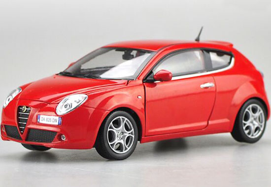 Red 1:24 Scale Motorama Diecast Alfa Romeo MiTo Model
