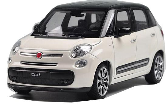 White / Red / Yellow 1:24 Welly Diecast 2013 Fiat 500L Model