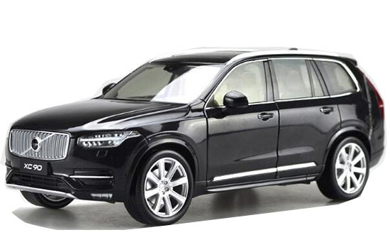 Black / Silver 1:18 Scale Diecast 2015 VOLVO XC90 Model