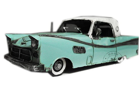 Blue-White Tinplate Medium Scale 1957 Cadillac Fleetwood Model