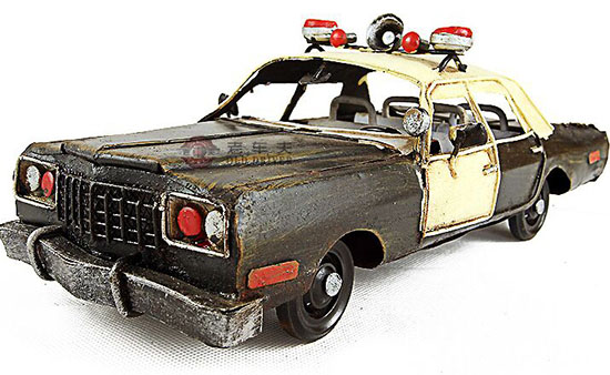 Black Handmade Medium Scale Tinplate Cadillac Police Car Model Na02t0664 Vktoybuy Com