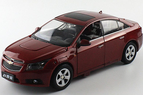 Red 1:24 Scale Transformers Diecast Chevrolet Cruze Model
