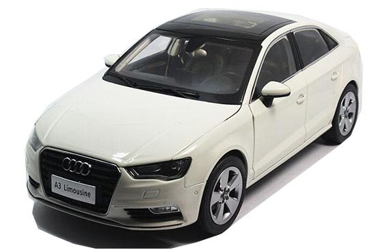 1:18 White / Silver / Red / Orange Diecast Audi A3 Limousine
