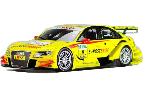 White / Yellow 1:18 NOREV Diecast Audi A4 DTM 2011 Model