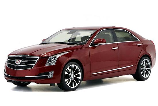 Red 1:18 Scale Diecast Cadillac ATS-L Model