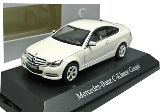 Norev White / Silver 1:43 Diecast Mercedes-Benz C-Class Coupe