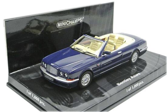 Blue 1:43 Scale Minichamps Diecast Bentley Azure Model