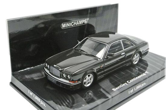 1:43 Scale Black Minichamps Diecast Bentley Continental T Model