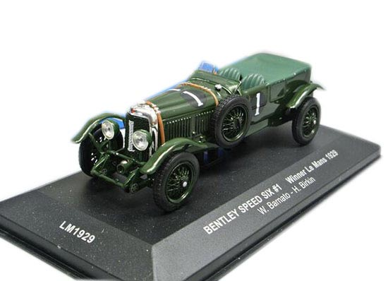 Green 1:43 Scale IXO Diecast 1929 Bentley Speed Six Model