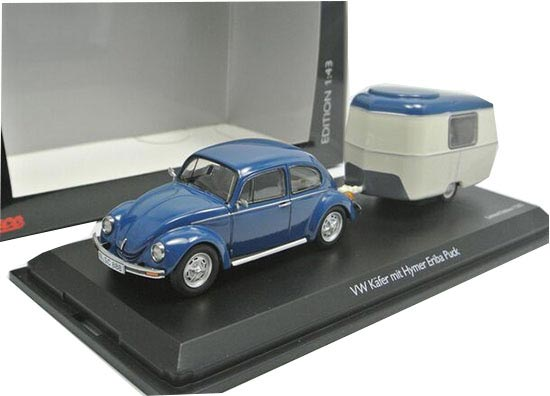 Blue 1:43 Schuco VW Beetle Mit Hymer Eriba Puck Model