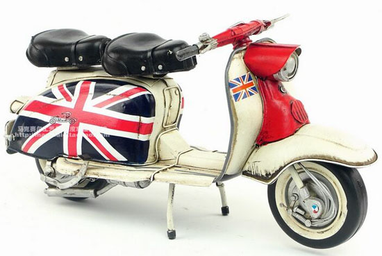 Handmade Retro Union Flag Pattern Tinplate Vespa Scooter Model