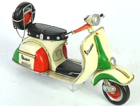 Tinplate Medium Scale Handmade Retro 1965 Vespa Scooter Model