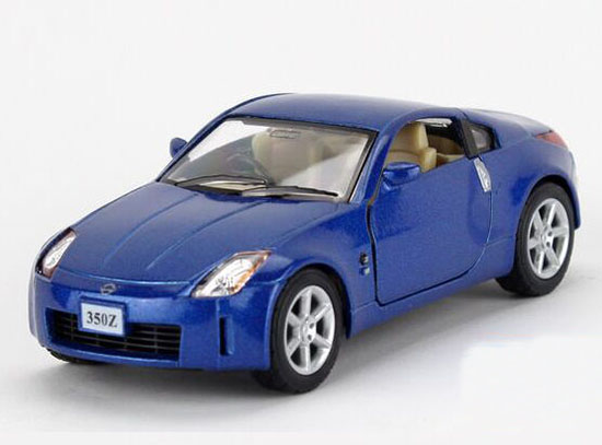 Blue / Red / Silver Kids 1:34 Scale Die-cast Nissan 350Z Toy