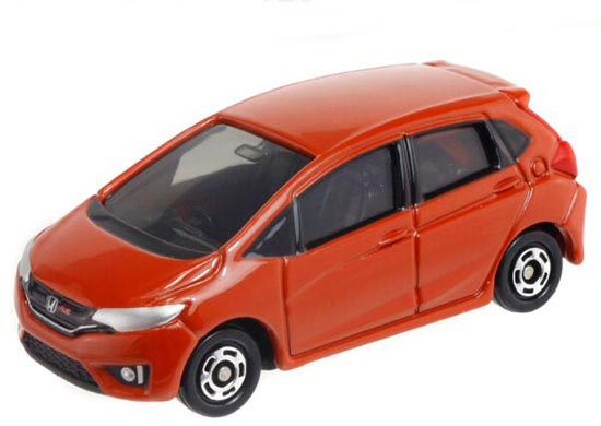 Orange 1:61 Scale Kids Tomy Tomica Diecast Honda Fit Toy