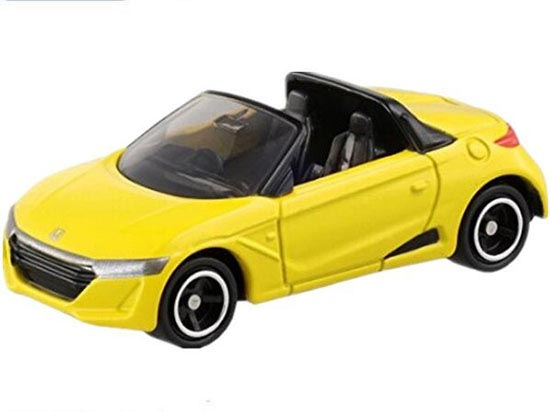 White / Yellow 1:56 Scale Kids Diecast Honda S660 Toy