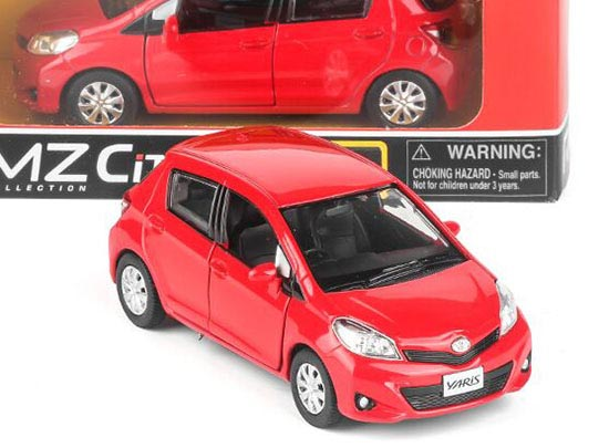 Silver /Blue / Red / Yellow 1:36 Kids Diecast Toyota Yaris Toy