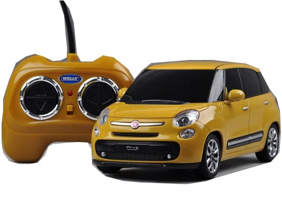 1:24 Scale Red / Yellow Welly R/C Fiat 500L Model