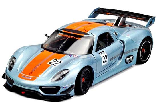 Welly Blue 1:24 Scale Diecast Porsche 918 RSR Model