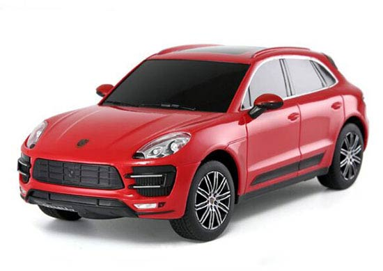 Kids Rastar Red / Yellow 1:24 Scale R/C Porsche Macan Turbo Toy