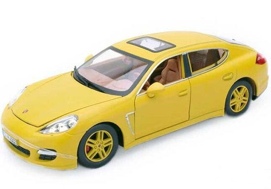 1:24 Red / Yellow Diecast Porsche Panamera Turbo Model