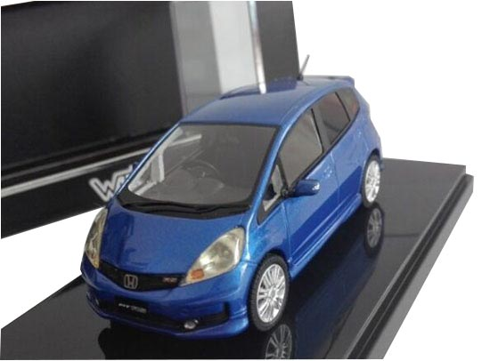 Blue 1:43 WITS Diecast 2010 Honda Fit RS Model