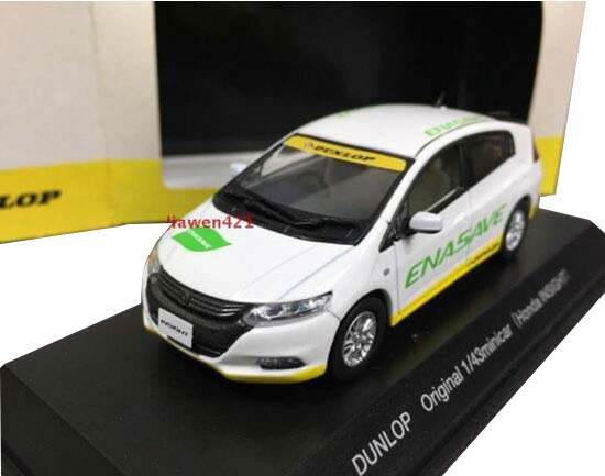 White 1:43 Dunlop J-Collection Diecast Honda Insight Model