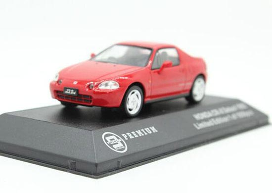 1:43 Scale Red Triple9 Diecast 1992 Honda CR-X Delsol Model