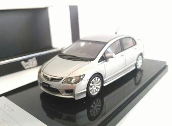 1:43 Silver Diecast 2008 Honda Civic 2.0GL S Package Model
