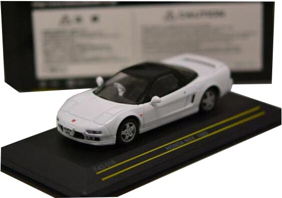 White / Red 1:43 Scale First Diecast 1990 Honda NSX Model