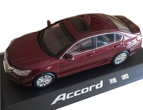 1:43 Scale Wine Red Diecast Honda Accord Model