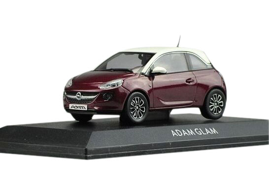 1:43 Scale Yellow / Wine Red Diecast Opel ADAM SLAM Model