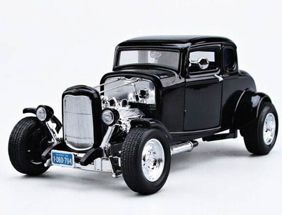 1:18 MotorMax Black Diecast 1932 Ford Hot Rod Model