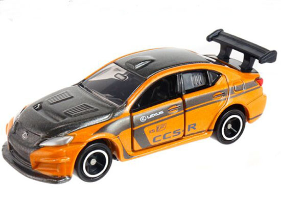 Yellow 1:66 Tomy Tomica NO.107 Diecast Lexus IS F CCS-R Toy