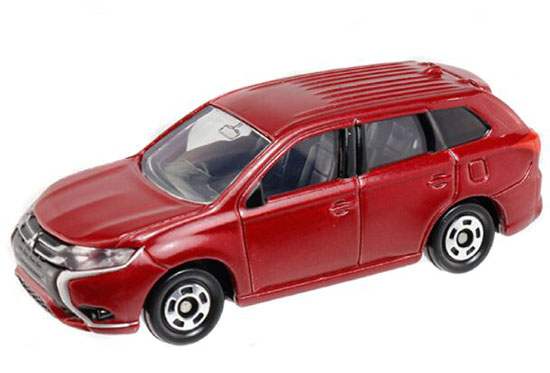 Red / Silver 1:63 NO.70 Diecast Mitsubishi Outlander Phev Toy