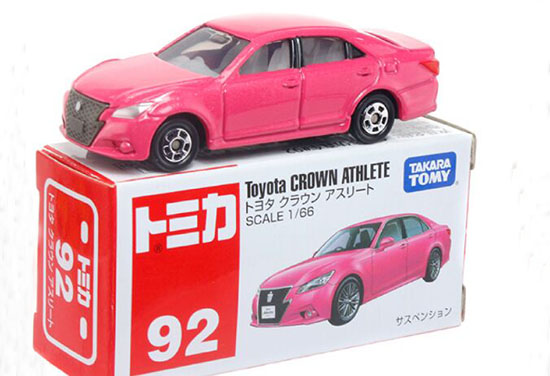 Pink 1:66 Tomy Tomica NO.92 Diecast Toyota Crown Athlete Toy