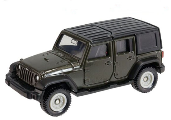 Black 1:65 Tomy Tomica Kids NO.80 Diecast Jeep Wrangler Toy