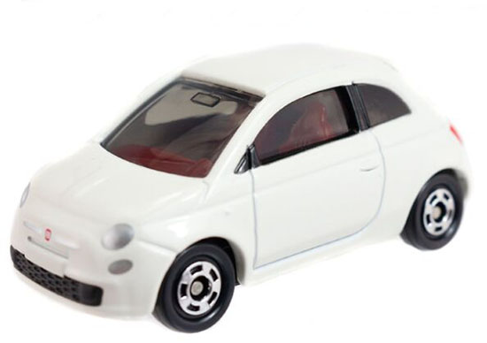 1:59 Scale White Tomy Tomica Kids NO.90 Diecast Fiat 500 Toy