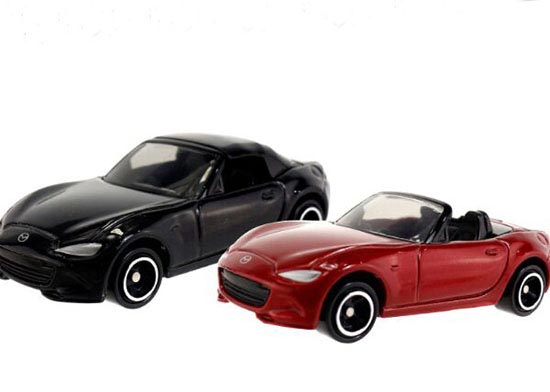Black / Red 1:57 Scale Kids NO.26 Diecast Mazda Roadster Toy