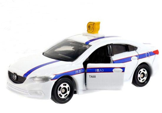White 1:66 Scale NO.62 Kids Diecast Mazda ATENZA Taxi Toy