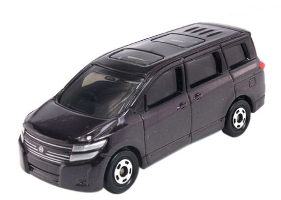 Wine Red 1:64 Scale Kids NO.88 Diecast Nissan Elgrand Toy