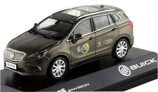 Gray 1:43 Scale Diecast Buick Envision Model