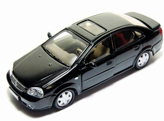 Black / White 1:43 Scale Diecast Buick Excelle Model