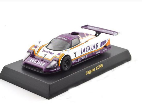 White-Purple 1:64 NO.1 Die-Cast Jaguar XJR9 Racing Car Model