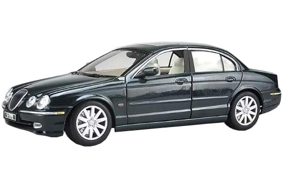 Green 1:18 Scale Welly 1999 Diecast Jaguar S-Type Model