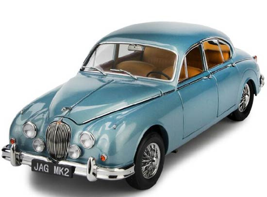 Blue 1:18 Scale PARAGON Diecast 1962 Jaguar Mark Model