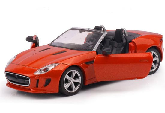 White / Blue / Orange Kids Diecast Jaguar F-Type Roadster Toy