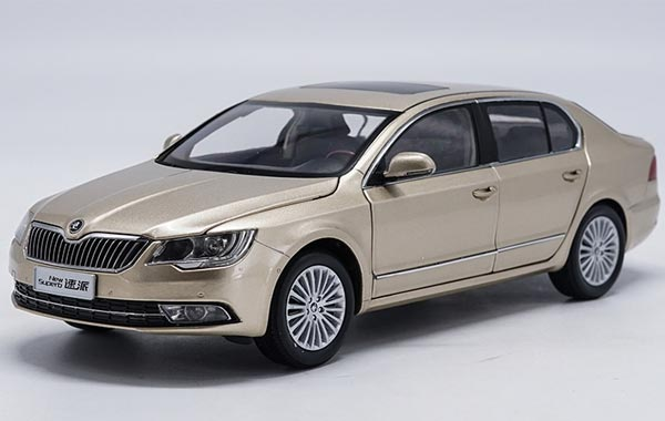 Brown 1:18 Scale Diecast Skoda New Superb Model