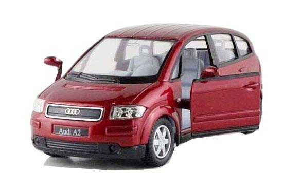 Atrovirens / Red / Silver / Black 1:36 Scale Diecast Audi A2 Toy