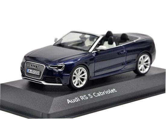 1:43 Scale Blue Minichamps Diecast Audi RS5 Cabriolet Model