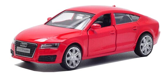 Silver / Red / Black 1:36 Scale Diecast Audi A7 Toy